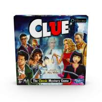 Hasbro Clue Game; Incudes The Ghost of Mrs. White; Compatible with Alexa (Amazon Exclusive); Mystery Board Game for Kids Ages 8 and Up