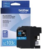 Brother LC-103C DCP-J132 J152 J171 J4110 J552 J752 MFC-J245 J285 J4310 J4410 J450 J4510 J870 J875 Ink Cartridge (Cyan) in Retail Packaging