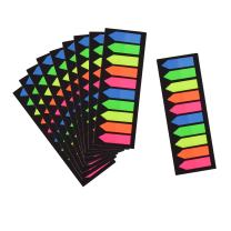 Morepack 2000 Count Neon Color Tape Flag, Page Markers,Index Tab Flags,Sticker Note, Fluorescent,10Pack,2000 Pages Count (Type 3)