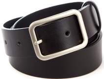 Solid Leather Goods, Men's Dress Belt, Heavy Duty Full Grain Cowhide, Black, 3XL