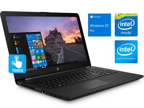 """HP 15.6"""" HD Touchscreen Notebook, Intel Quad-Core Pentium Silver N5000 Upto 2.7GHz, 8GB DDR4, 128GB SSD, HDMI, Windows 10 Pro, Customized to Meet Specs as Listed (8GB RAM + 128GB SSD)"""