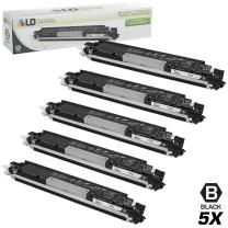 LD Remanufactured Toner Cartridge Replacement for HP 130A CF350A (Black, 5-Pack)