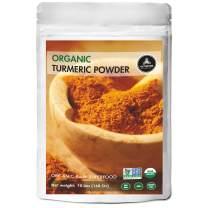 Premium Quality Organic Turmeric Root Powder with Curcumin,10lbs | Gluten-Free, Non-GMO & Keto Friendly | Immunity Booster | Indian Seasoning (160 ounces)