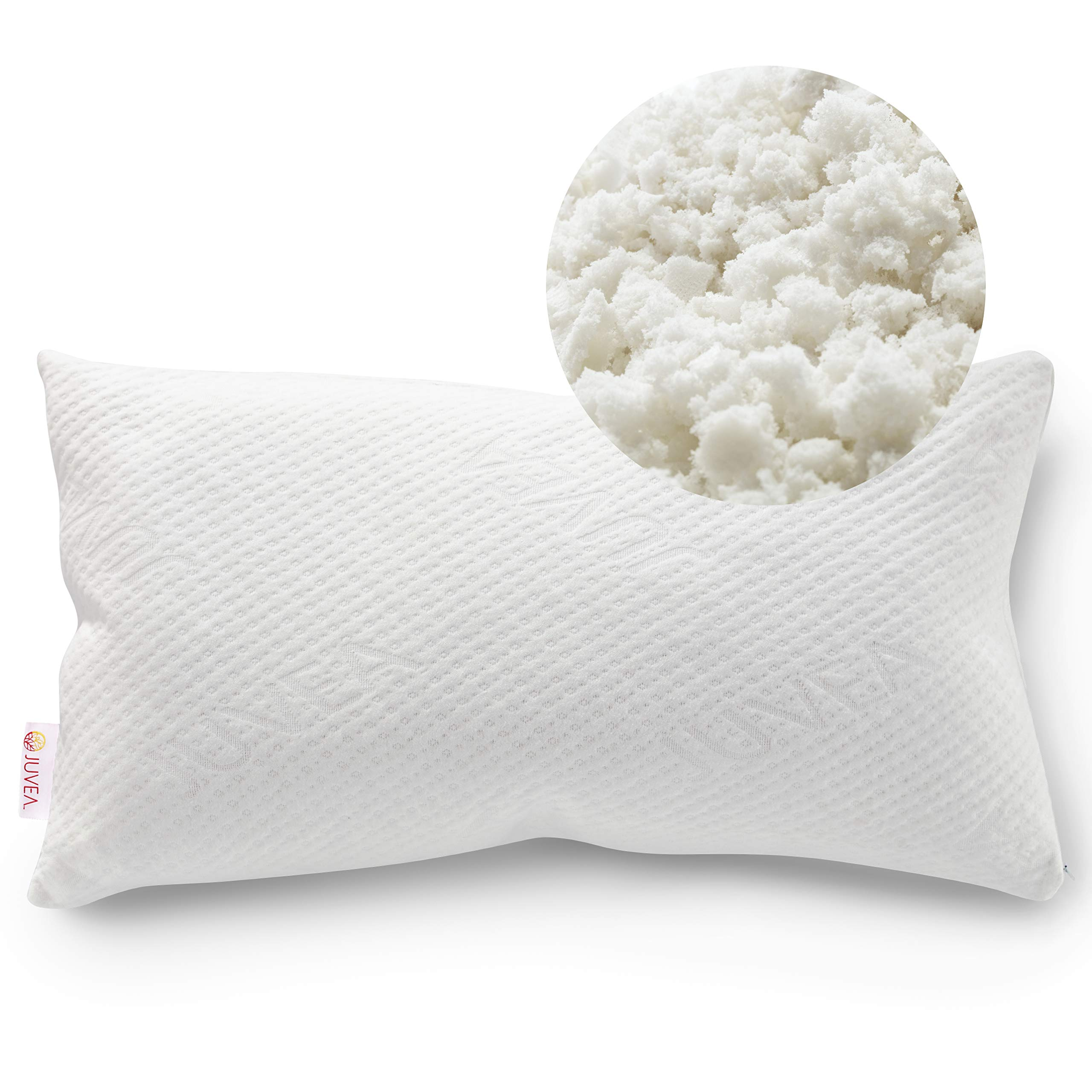 JUVEA 100% Natural, Adjustable Talalay Latex Down Alternative Pillow, 100% Certified Organic Cotton Breathable Cover, Best Pillow to Support Head and Neck, King Size - ComforFill – Made in USA