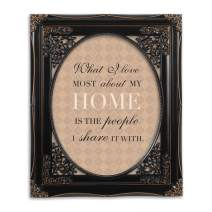 Cottage Garden I Love My Home Black Floral Cutout 8 x 10 Table Top and Wall Photo Frame