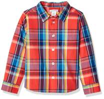 Amazon Essentials Boys' Long-Sleeve Woven Poplin Chambray Button-Down Shirts