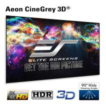 Elite Screens Edge Free Ambient Light Rejecting Fixed Frame Projection Projector Screen,Aeon CineGrey 3D Series, 110-inch 16:9 for Home Theater, Movie and Office Presentations AR110DHD3