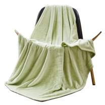FFLMYUHUL I U Summer Thin Soft Fuzzy Lightweight Warm Cozy Reversible Plush Blanket for Bedroom and Sofa Tender Green