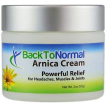 Back To Normal Arnica Cream - New Extra Strength Formula! 2 Ounces. FDA Registered. Soothing, Odor Free, not Sticky. Use for Joint, Muscle and Other Pain Relief.