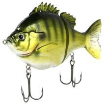 """FishLab BGG-4-LB Bio Gill Glide Bait Slow Sink Light Bluegill 4"""" 1 oz"""