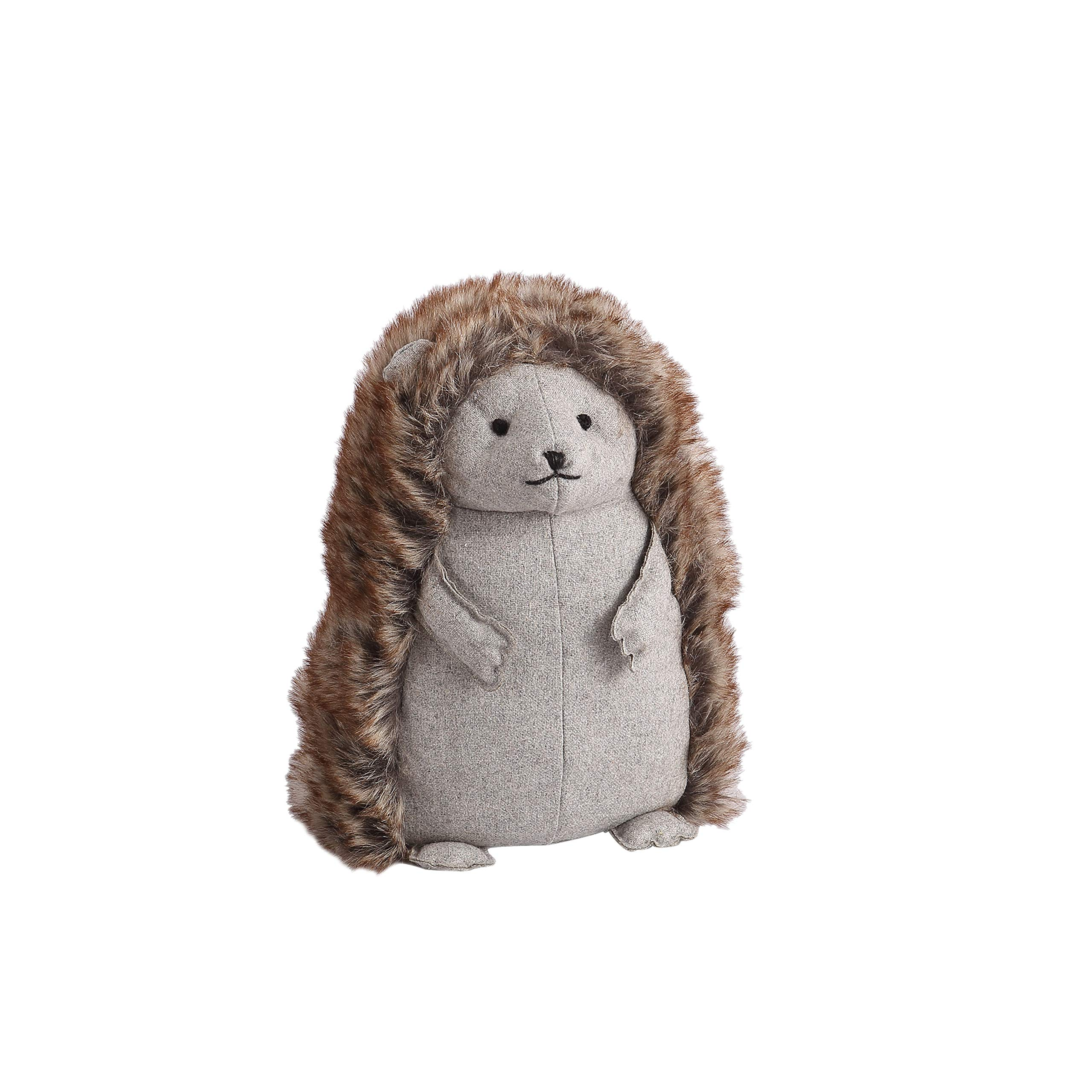 Decorative Door Stopper by Morgan Home – Available in Many Adorable Animals and Styles – Durable, Subtle Home Decor Easily Matches Measures Approx. 11 x 5.5 x 5.5 Inches (Grey Hedgehog)