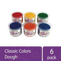 Colorations Classic Colors Best Value Dough (Pack of 6, 3-lb. Tubs) – Vibrant Rainbow Colors - Soft and Easy to Mold – Does Not Crumble – Great for Sensory Play, Fine Motor Development – Non-Toxic