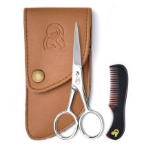 Beard and Mustache Scissors With Comb For Precise Facial Hair Trimming - Sharpness and Stainless Steel Give These Scissors Durability That Will Last