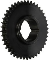 """Tsubaki D50CTL42 Roller Chain Sprocket, Double Strand, Taperlock Design, 2517 Bushing Required, 42 Teeth, #50 ANSI No., 5/8"""" Pitch"""