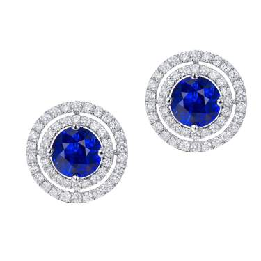 14 K Yellow Gold Plated Natural Blue Sapphire Pear Gemstone Earring Earring Gift 925 Solid Silver Women Earring Elegant Sapphire Earring