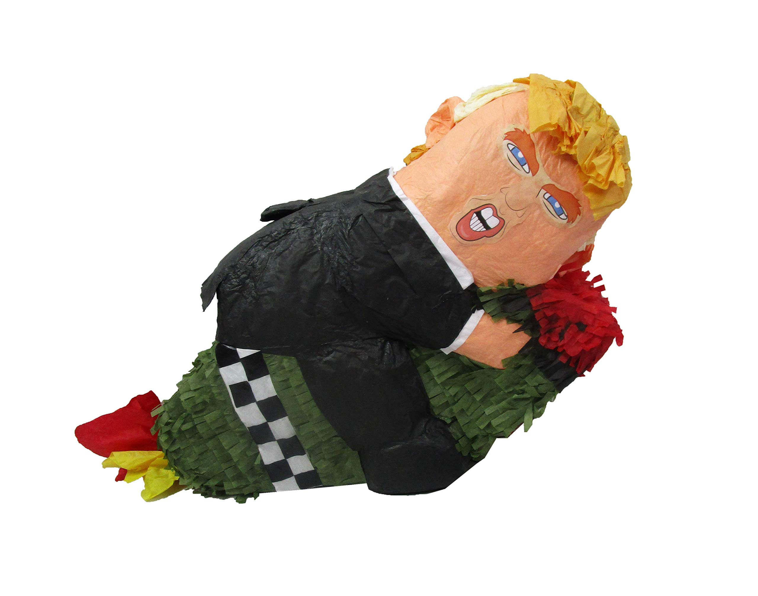 Trump on Missile Party Pinata - Game, Photo Prop, Decoration Centerpiece and Gag Gift, Handmade Paper Craft