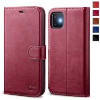 OCASE iPhone 11 Case, iPhone 11 Wallet Case with Card Holder, Leather Flip Case with Kickstand and Magnetic Closure, TPU Shockproof Interior Protective Cover for iPhone 11 6.1 Inch (Burgundy)