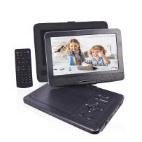 """PJGCWB 12.1'' Portable DVD Player with 10.1"""" HD Swivel Display Screen, 5 Hour Rechargeable Battery, Portable DVD Player for Kids, Supports SD Card/USB/CD/DVD/Sync TV, with Extra Headrest Mount Case"""