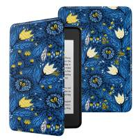 MoKo Case Fits Kindle Paperwhite (10th Generation, 2018 Releases), Premium Ultra Lightweight Shell Cover with Auto Wake/Sleep for Amazon Kindle Paperwhite 2018 E-Reader - Tulip Blue