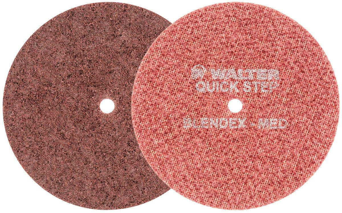 Walter 07R603 Blendex Surface Conditioning Disc - (Pack of 10) Medium Grit, 6 in. Grinding Disc in Maroon. Power Finishing Tools