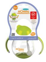 Lansinoh mOmma Straw Cup with Dual Handles for Toddlers, Green
