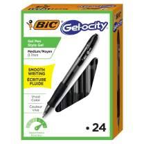 BIC Velocity Gel/RLC241-BLK  Gel-ocity Retractable Gel Pen, Medium Point (0.7 mm), Black, 24-Count