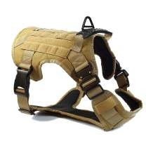 Pina Tactical Dog Harness With Handle no pull Dog Harness Service Dog Vest Large Dog Harness Medium Easy Walker Harness For Dogs Pitbull Husky Dog Accessories Military Dog Harness In Training Dog Vest