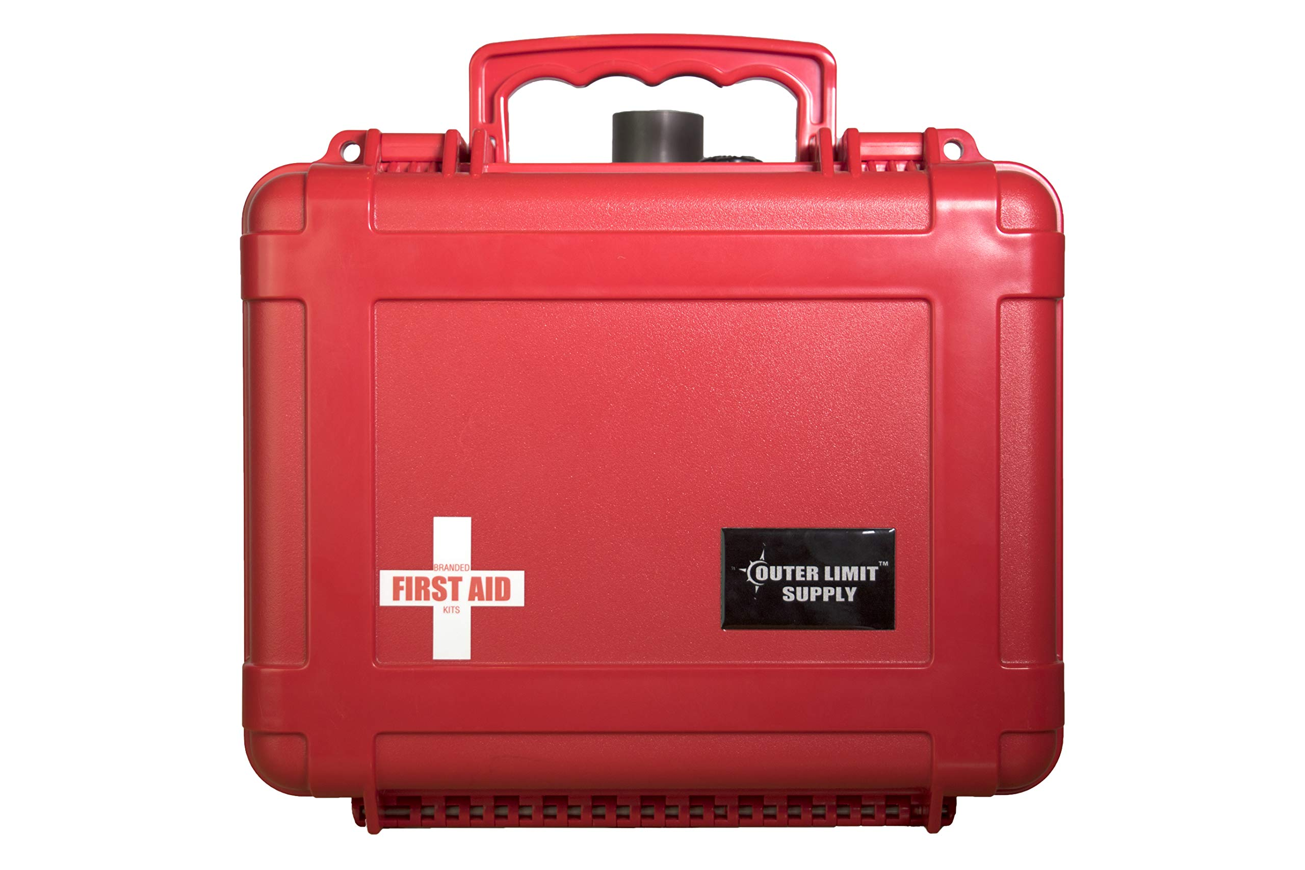 Outer Limit Supply - 6500 Series Emergency First Aid Kit - Waterproof, Secure, Rugged - Designed for Camping, Backpacking, Hiking - The Perfect Survival Kit for the Entire Family - Lifetime Warranty