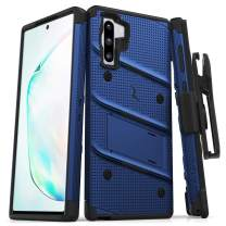 ZIZO Bolt Series for Samsung Galaxy Note 10 Case | Heavy-Duty Military-Grade Drop Protection w/Kickstand Included Belt Clip Holster Lanyard (Blue/Black)
