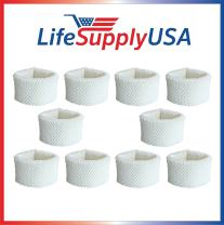 LifeSupplyUSA 10 Pack Replacement Wick Air Filter Compatible with Philips HU4102/20 Humidifier 2000 Series