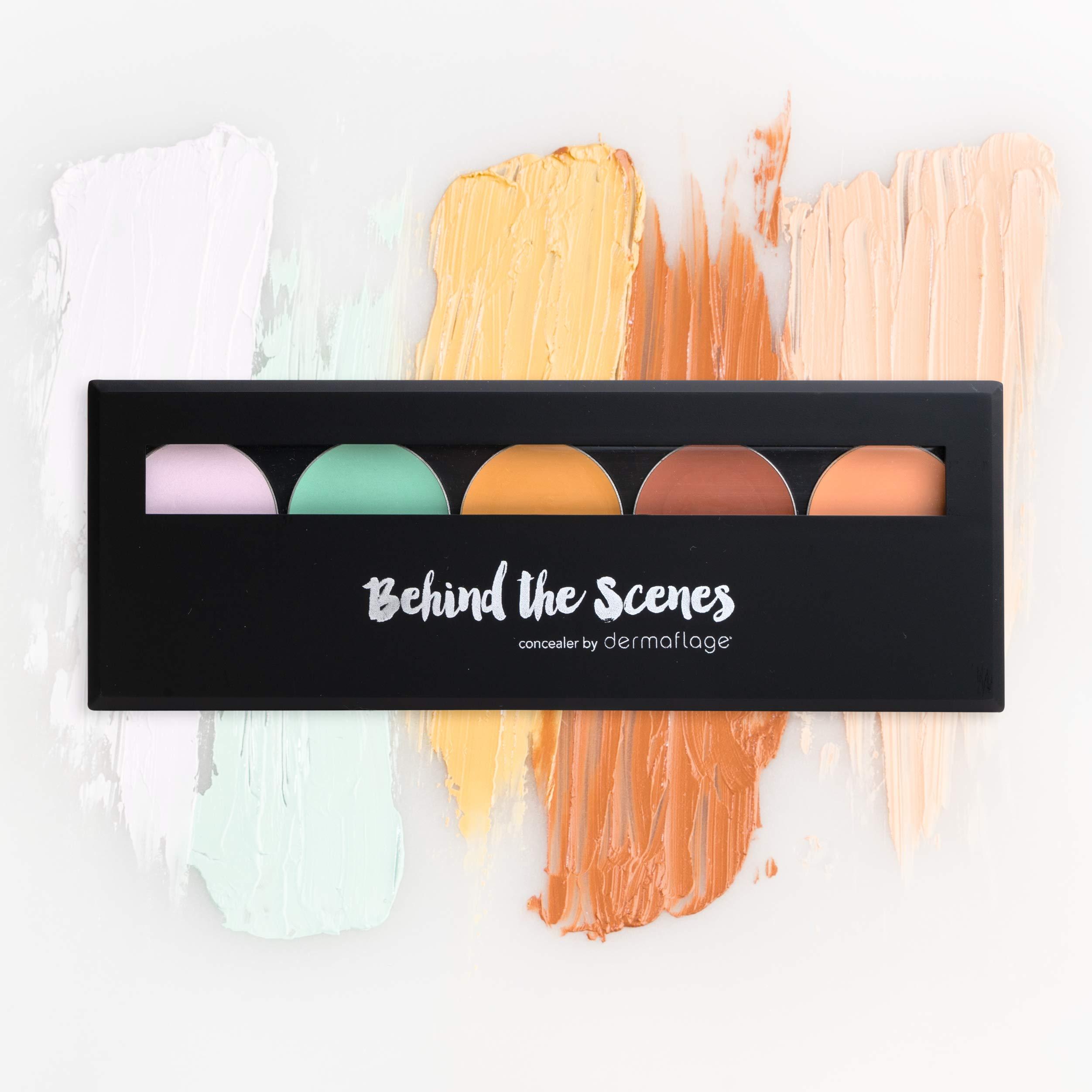 Dermaflage Color Correcting Palette, Color Corrector Cream, 5 Color Corrector Kit + Brush, by Dermaflage 10g/.35oz