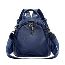 ALTOSY Small Fashion Genuine Leather Backpack for Women Shoulder Bag Casual Daypack