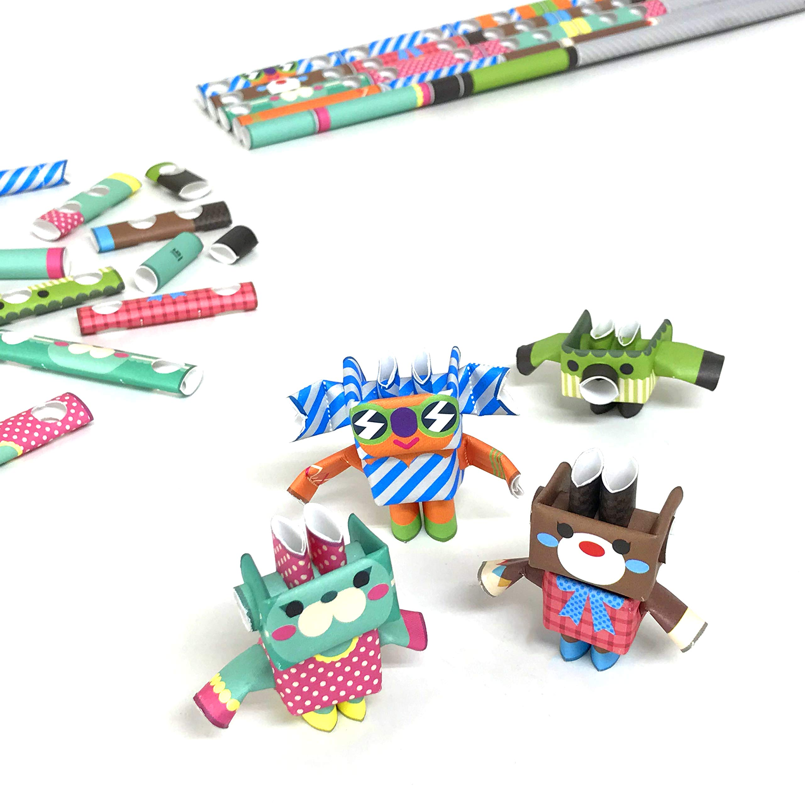 PIPEROID DIY Paper Craft Kit Sweets & Co. Photogenic Sisters - Japanese Arts and Craft Kit for Kids and Adults - Birthday Gift and Party Favor for 3D Puzzle and Origami Paper Craft Enthusiasts
