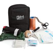 D & H Medical Survival (IFAK) Trauma First Aid Kit for Emergencies. Includes Combat Action Tourniquet (CAT) and Much More. Great for Outdoor Gear for Camping Hiking Hunting Travel Car Adventures.