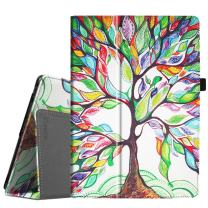Fintie Case for Lenovo Tab 4 10 / Lenovo Tab 4 Plus 10 / AT&T Lenovo Moto Tab/Lenovo TAB E10 TB-X104F 10.1-Inch Tablet - Premium PU Leather Folio Cover with Auto Sleep/Wake, Love Tree