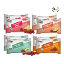 Bijelti Fruit Snacks Variety Pack – Vegan Gummy Snacks for Adults - Exploding Ginger, Spicy Merken, Mexican Enchilada, Real Fruit - Gluten Free & No Sugar Added