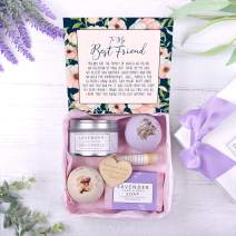 Best Friend Gift Box Set - Heartfelt Card & Spa Gift Box for Birthday, Holiday & More
