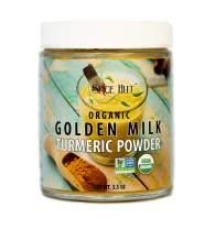 The Spice Hut Golden Milk Turmeric Powder Certified Organic All Natural, 3.5 ounce
