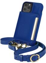 Smartish iPhone 11 Pro Crossbody Case - Dancing Queen [Purse/Clutch with Detachable Strap & Card Holder] - Bath Bomb Blue