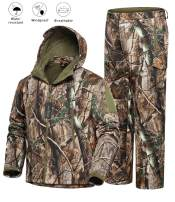 NEW VIEW Hunting Jacket Water Resistant Hunting Camouflage Hooded for Men,Hunting Suit