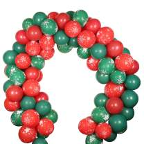 Christmas Balloon Garland Arch 100pcs Latex Pattern Red Green Balloon for Merry Christmas Party Theme Decorations Supplies