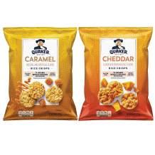 Quaker Rice Crisps, Cheddar & Caramel Variety Pack, 6.06 & 7.04 Oz Bags, 6 Count