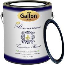 Retique It Chalk Finish Paint by Renaissance - Non Toxic, Eco-Friendly Chalk Furniture & Cabinet Paint - 128oz (Gallon), Snow