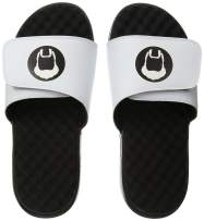 ISlide NBA Uncle Drew Big Fella Icon Sandals, White, 10