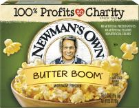 Newman's Own Microwave Popcorn, Movie Theater Butter, 10.5 Ounce (Pack of 12).
