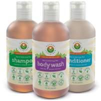Probiotic Sensitive Skin Shampoo, Body Wash & Conditioner [Unscented] (3 Pack Gift Bundle) Raw Probiotic Soapberry Formula (pH Balanced) for Sensitive Skin & Dry Hair - (9 Oz. Bottles)