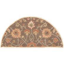 Surya Hearth Floral Traditional Area Rug, 2-Feet by 4-Feet Hearth, Brown