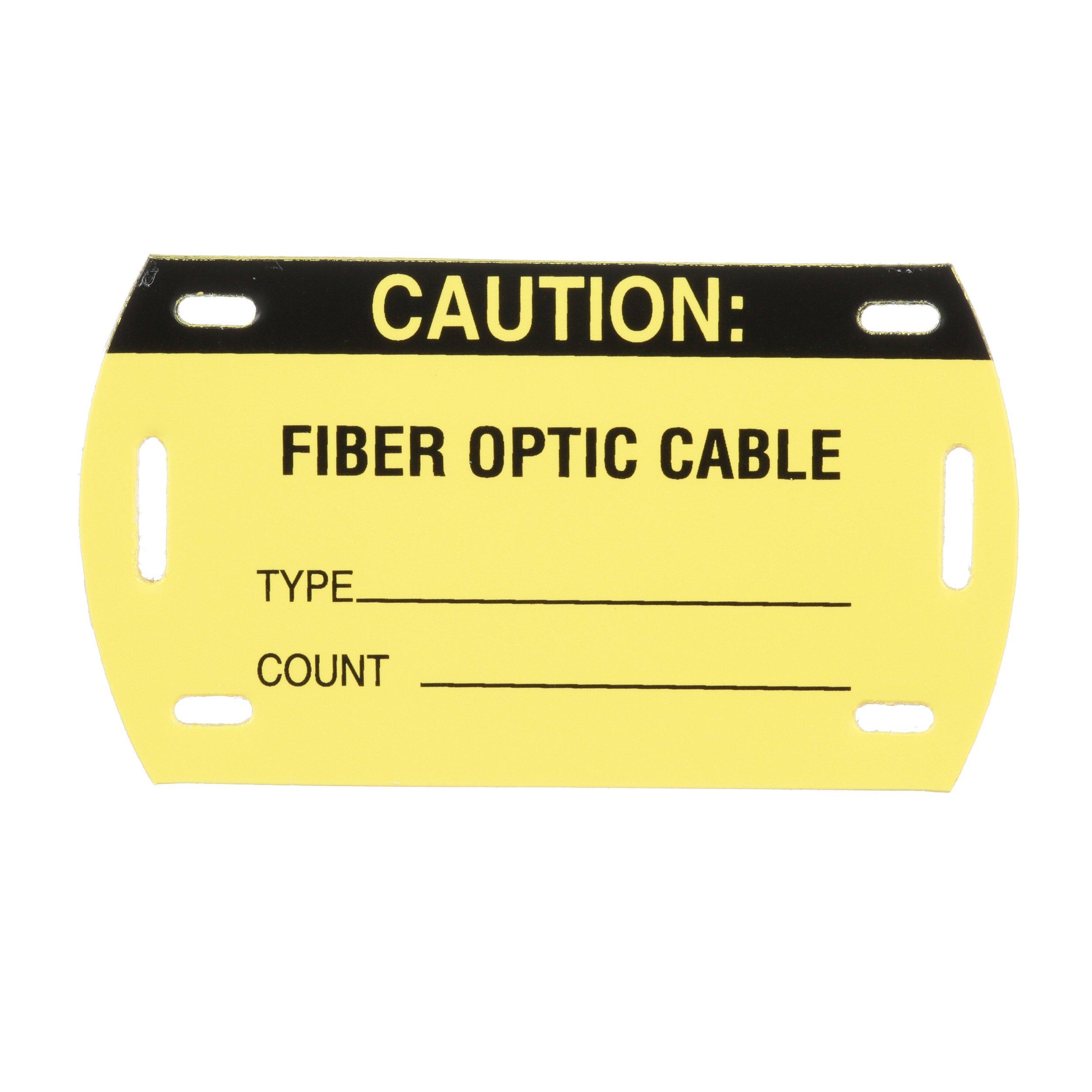 Panduit PST-FOBLNK Self-Laminating Fiber Optic Cable Blank Marker Tag, Yellow (5-Pack)