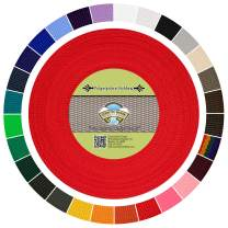 Country Brook Design - Polypropylene Webbing (Red, 50 Yards, 1 Inch)