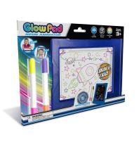 Mindscope Light Up LED Glow PAD Writing Board Blue Animator with Glow Markers